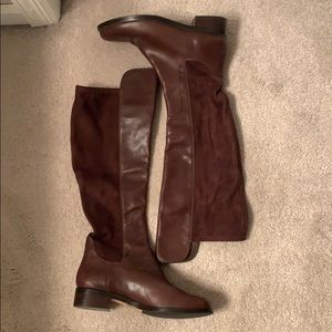Cole Haan over the knee leather/suede boots